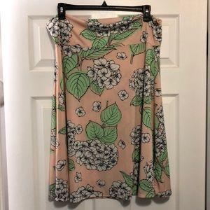 Peach Lularoe Azure Skirt